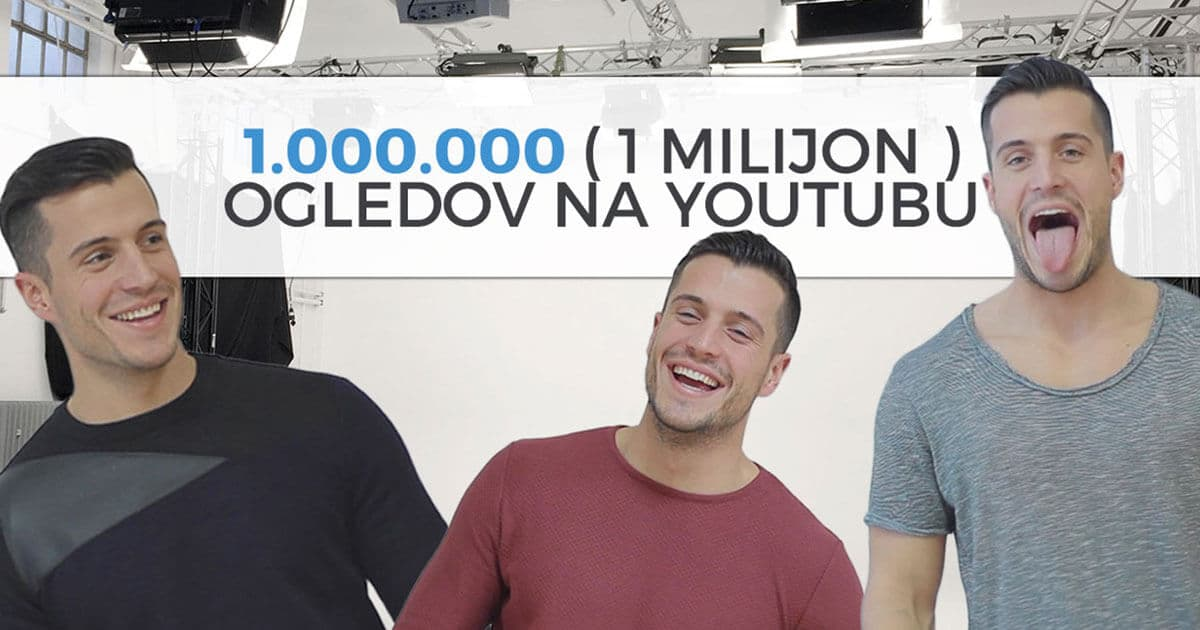 Hvala za 1.000.000 ogledov na YouTubu!