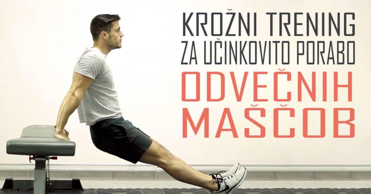 Krožni trening s klopjo za porabo odvečnih maščob