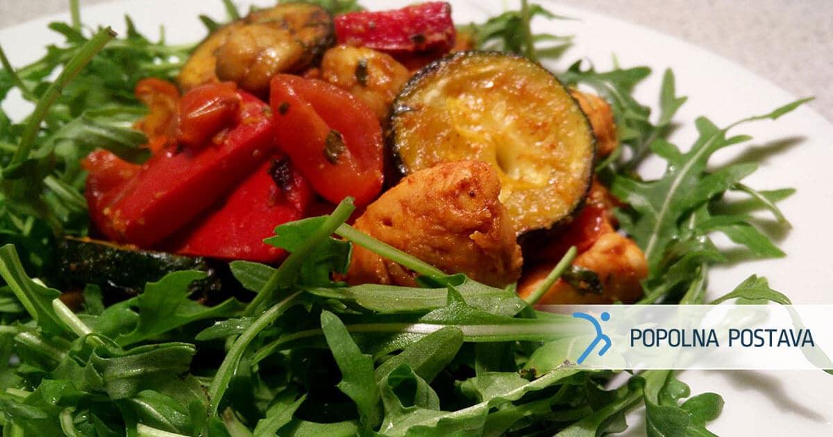 PP-recept-piscanec-s-peceno-zelenjavo-na-rukoli