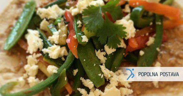 Polnozrnata zelenjavna tortilja
