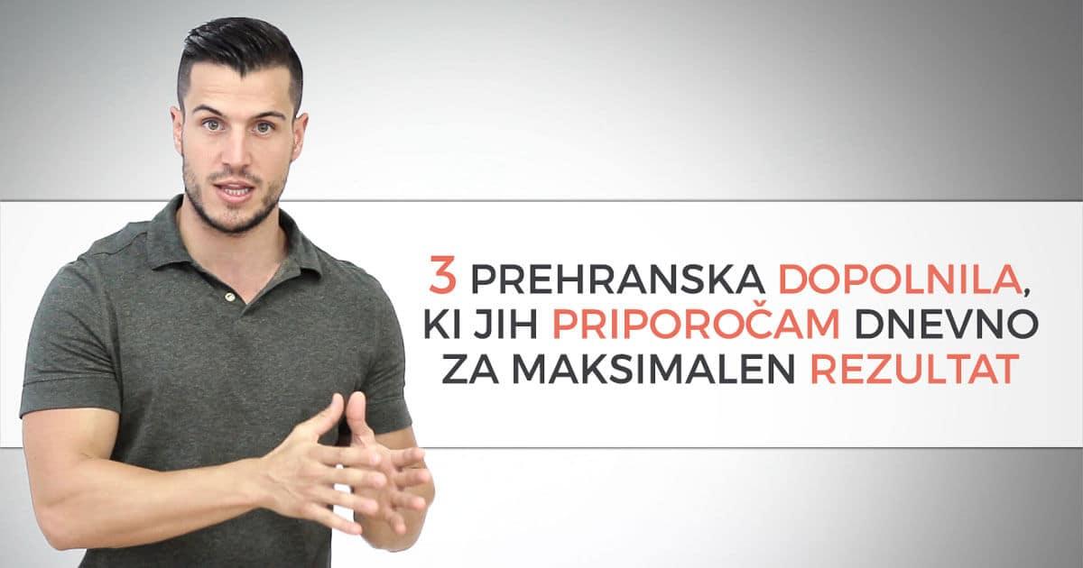 3 prehranska dopolnila ki jih priporočamo dnevno