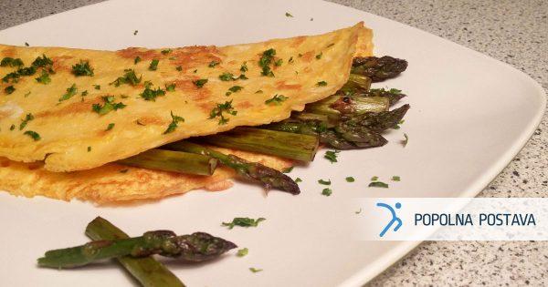 Rahla omleta s šparglji