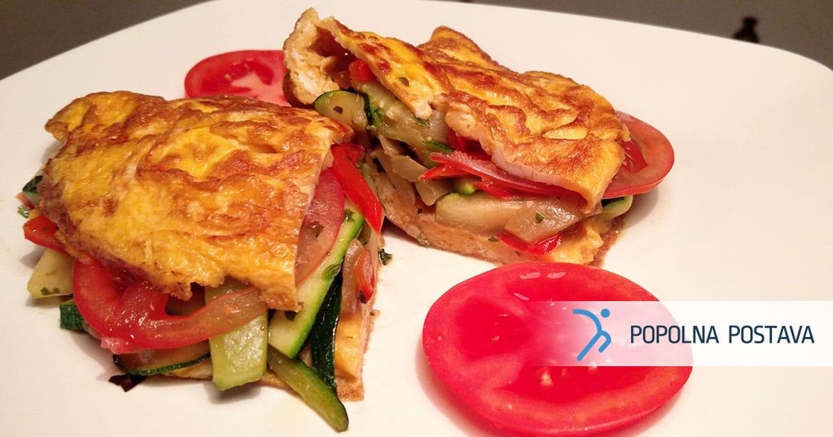 Odlična jajčna omleta z zelenjavo