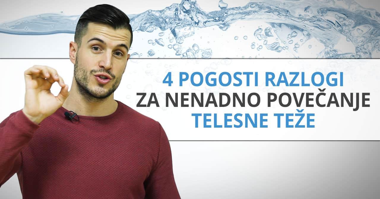 4 razlogi za zastajanje vode v telesu