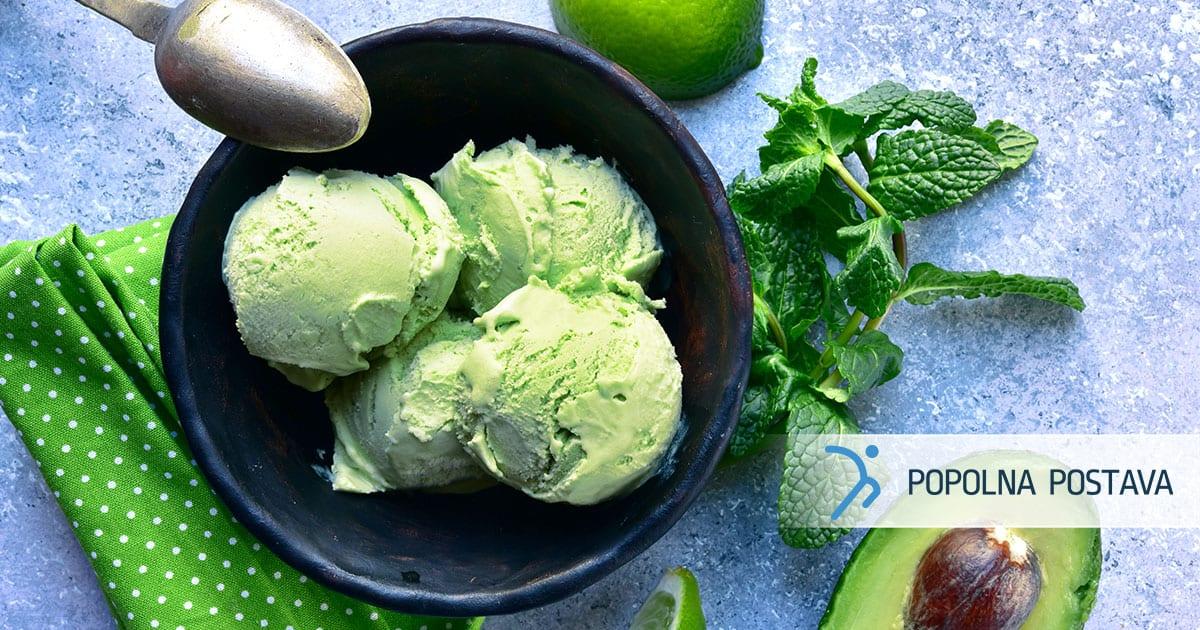 Kremast avokadov sladoled