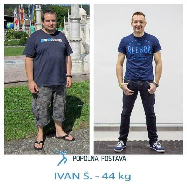Ivan shujšal 44 kg - preobrazba