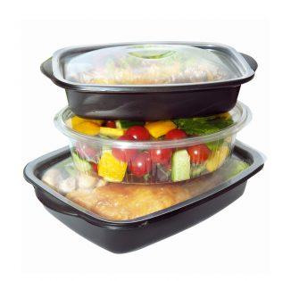 posode s pripravljeno hrano