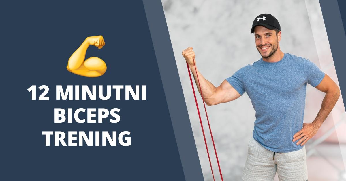 4 najučinkovitejše vaje za biceps z elastiko ➡ Vodeni trening