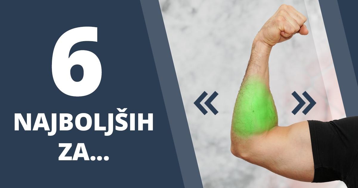 6 najučinkovitejših vaj za podlaket z elastiko