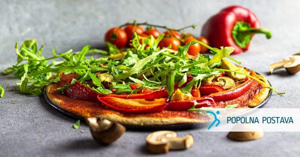 Veganska pica z artičokami
