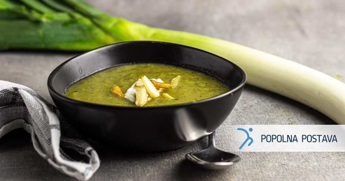 Kremna porova juha s sladkim krompirjem