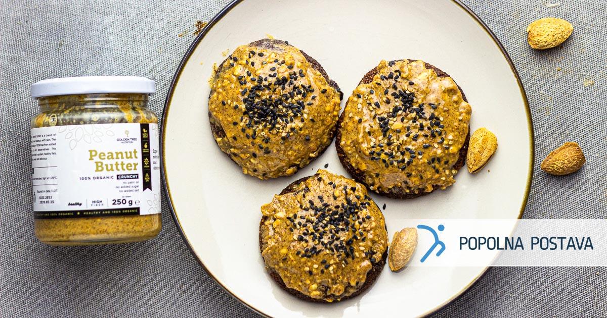 Mandljevi piškoti z arašidovim maslom – brez glutena