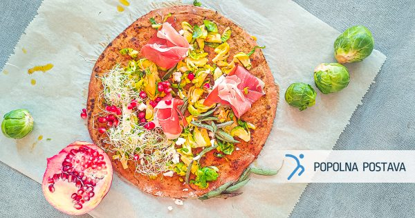 Pica iz ržene moke z žajbljem in granatnim jabolkom