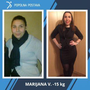 Kljub poškodbi kolena Marijana ni obupala