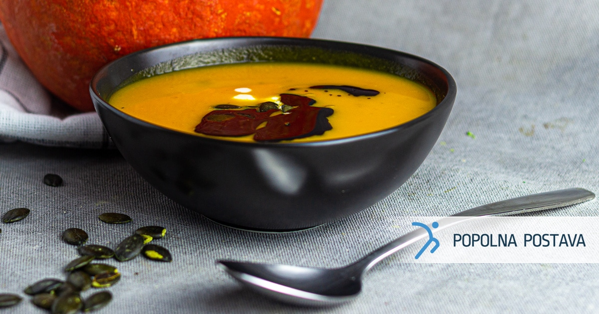 Bučkina juha s sladkim krompirjem