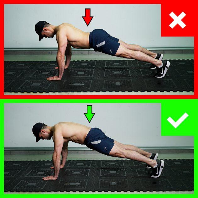 skleca - pravilna pozicija ledvenega dela