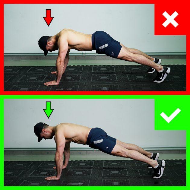 skleca - pravilna pozicija glave