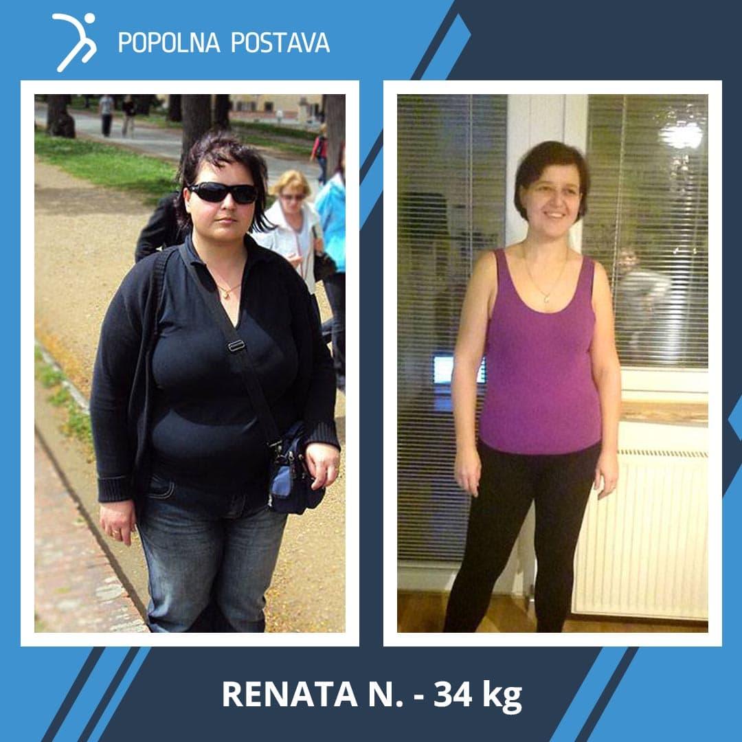 Renate je izgubila neverjetnih 34 kg! V 1,5 leta je dosegla nemogoče …