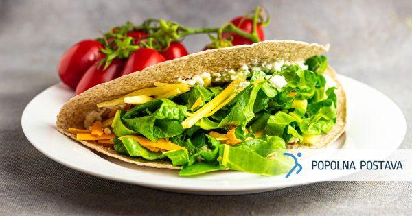 Vegetarijanski zavitek iz sira in zelenjave