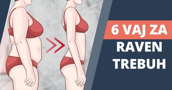 6 preprostih vaj za raven trebuh