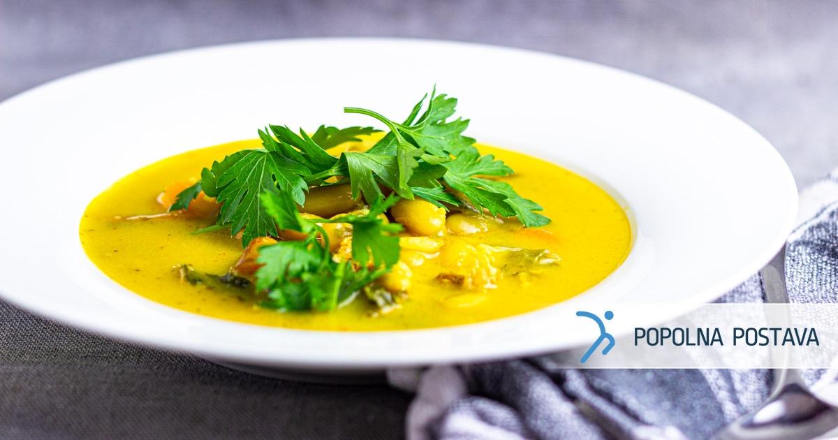 Kurkumina juha z zelenjavo